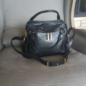 Marc Jacobs black leather handbag Satchel LKNW